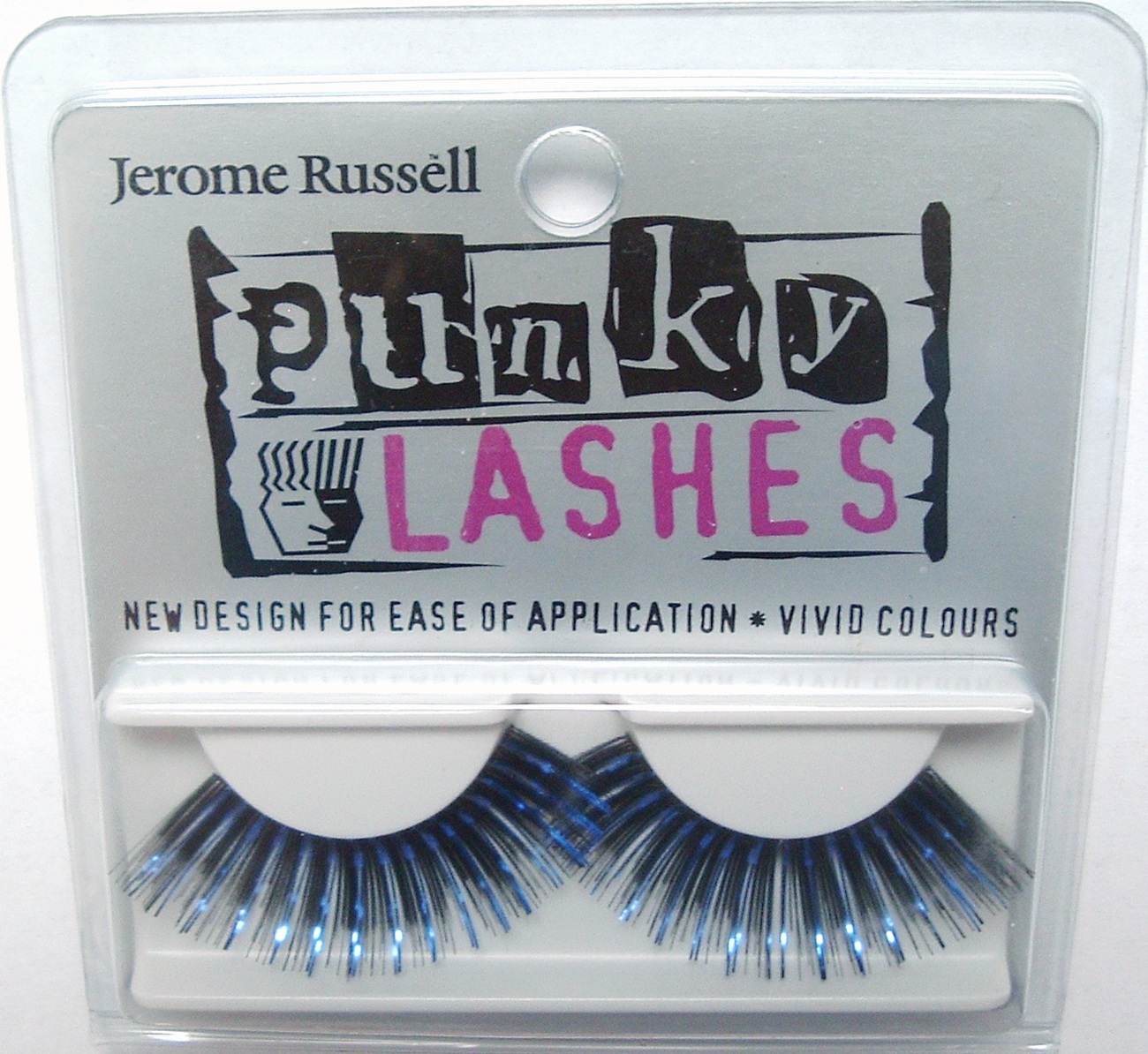Jerome Russell PUNKY LASHES False Eyelashes BLACK BLUE Bonanza