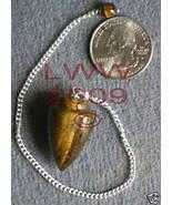 Tiger Eye Gemstone Pendulum- NEW Scrying Wiccan Pagan - $6.85
