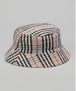 Nantucket Girls Tan Plaid Bucket Hat Sun Hat MSRP $32.00 SAVE $10.00 - $22.00