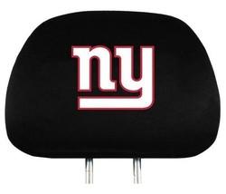 NEW YORK GIANTS CAR AUTO 2 TEAM HEADREST COVERS NFL FOOTBALL - $21.40
