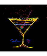 Happy Hour by Simon Bull, Framed Giclee on Canvas -  NEW - $1,119.99
