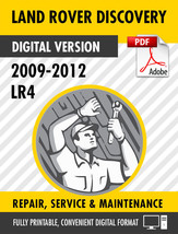 2009 - 2012 LAND ROVER DISCOVERY LR4 FACTORY SERVICE REPAIR MANUAL / WOR... - $9.90