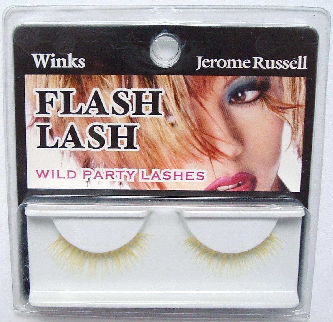Jerome Russell Winks FLASH False Eyelashes COOL YELLOW  Bonanza