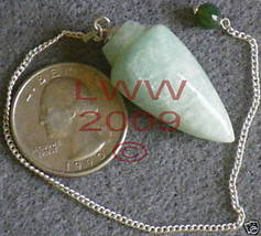 Green Aventurine Gemstone Pendulum- Scrying Wicca NEW - $6.85