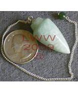 Green Aventurine Gemstone Pendulum- Scrying Wicca NEW - $6.85