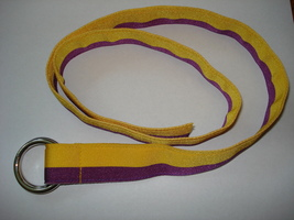 NWT Polo Ralph Lauren Grosgrain Ribbon Belt Size Small  Purple & Yellow  - $21.99