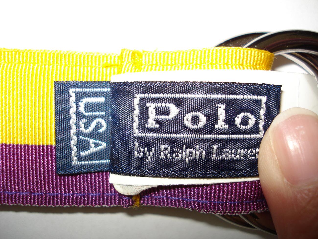 NWT Polo Ralph Lauren Grosgrain Ribbon Belt Size Small  Purple & Yellow