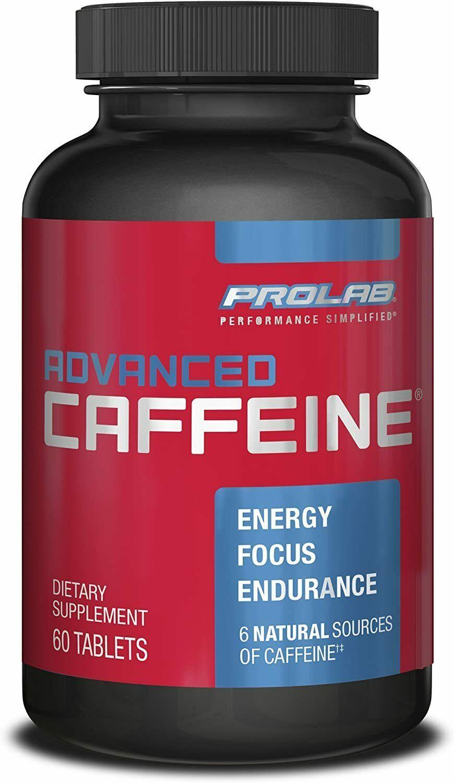 ProLab Nutrition Advanced Caffeine  60 tabs boosts energy levels  - $9.89