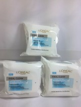(3) L'Oreal Ideal Clean MakeUp Removing Towelette Cleanser 25 Cloths - $16.21