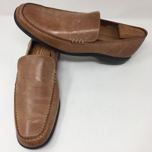 Cole Haan Mens Tan Leather Loafers Shoes Sz 12 M Air Soles Slip On Casual - $84.14