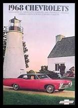 1968 Chevrolet Brochure- Chevelle SS Camaro 396! - $14.61