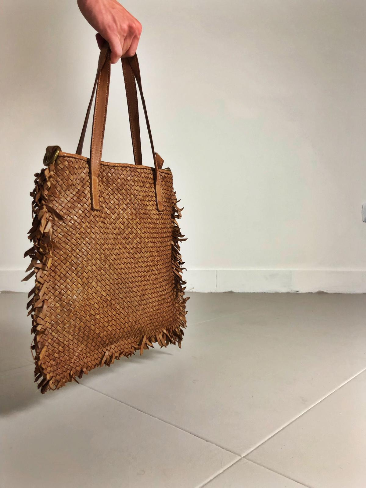 Intreccio 124 handmade woven leather bag