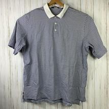 Ralph Lauren Polo Golf Men's XL White Striped in Blues 100% Pima Cotton  - $17.81