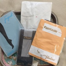 Vintage Hosiery Lot European Tights 4 Pairs Variety Small-One Size - $9.99