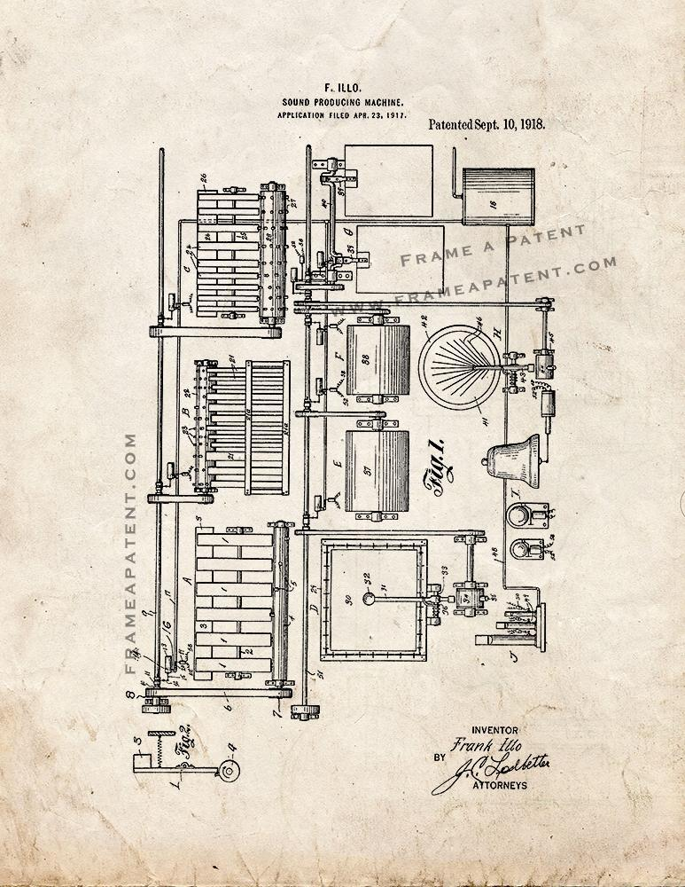 Primary image for Sound-producing Machine Patent Print - Old Look