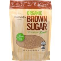 Woodstock Sugar - Organic - Brown - 16 oz - case of 12 - $46.59