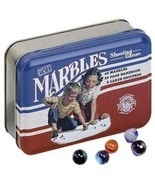 Channel Craft, Marbles in a Classic Toy Tin, Marble Game, Vintage Toys - $20.99