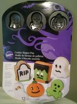 Wilton Halloween Cookie Mold Pan New Gravestone Mummy Skull Ghost Pumpkin - ₨731.56 INR