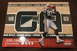 2002 Fleer Genuine Article New York Jets Football Santana Moss 2 Color P... - $7.85