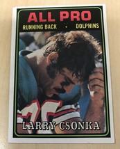 1974 Topps Football Larry Csonka All-Pro #131 *DOLPHINS* HOF - $4.90