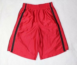 Simply For Sports Boys Shorts Sz M 10 12 Red Black Stripe Athletic Gym T... - $16.82