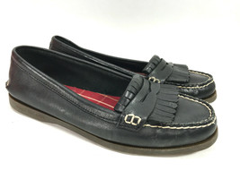 SPERRY TOPSIDER black leather penny loafer kiltie loafers shoes 10 FREE ... - $21.73