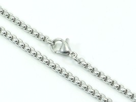 """Mens Womens Link Chain Rolo Necklace Stainless Steel 316L 30"""" 3mm 20g Un... - $12.16"""