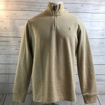 Polo Ralph Lauren Tan Rib Half Zip Pull Over Sweater Color Pony NWT Mens Size XL - $57.15