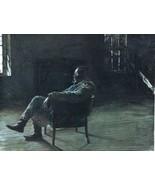 "Black Americana Print, Black Man in Chair 15"" x 11.5"" Framed - $197.99"