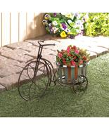 GALVANIZED BUCKET BIKE PLANT STAND - $39.95