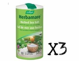 3x VOGEL Original HERBAMARE Herbed Sea Salt LARGE 1.1 LB/ 500g - FRESH C... - $43.55