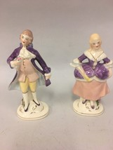 Set of 2 VTG Coventry USA Porcelain Colonial 5064A Man 5065A Woman Figur... - $33.65