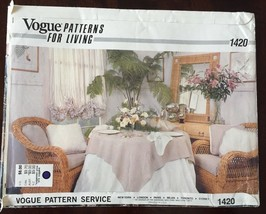 Vogue Home Decor Pattern 1420 Uncut Napkin Tablecloth Placemats Pillow U... - $9.65