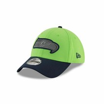 New Era Seattle Seahawks 3930 Thanksgiving Day 2017 Flex Fit Hat Green S... - $31.00
