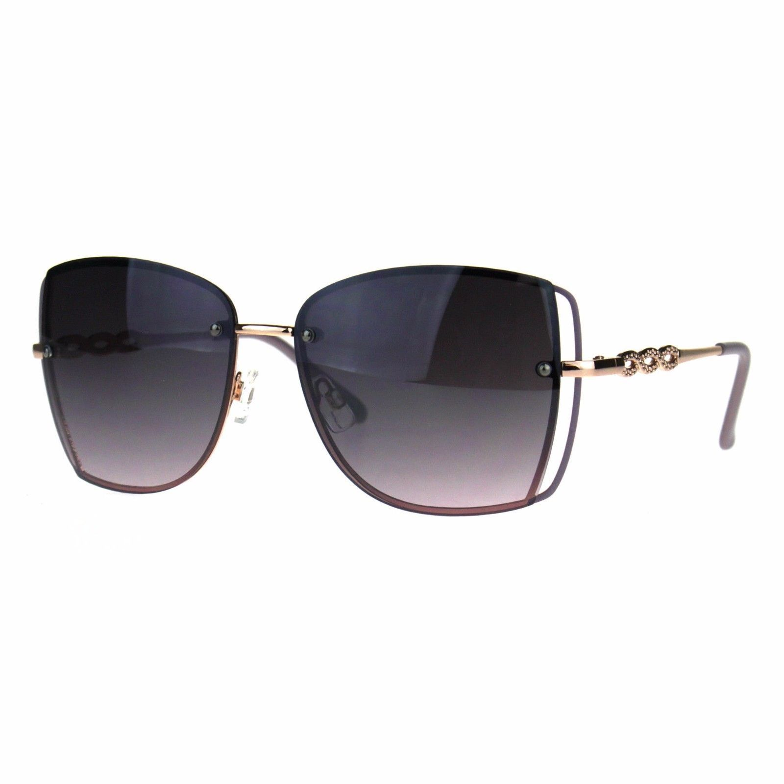 Womens Fashion Sunglasses Square Rims Behind Lens Frame UV 400