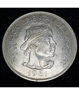 1961(I) Uruguay 10 Pesos World Silver Coin - €17,85 EUR