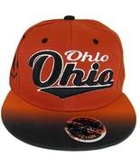 Ohio Fade Top Printed Bill Adjustable Snapback Baseball Cap (Red/Black) - $12.95