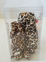 Ty Teenie Beanie Baby Freckles The Leopard 2-Pieces With Case - $14.54