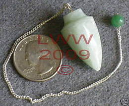 Green Aventurine Gemstone Pendulum- Scrying Pagan NEW - $6.85