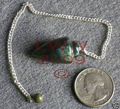 Bloodstone Scrying Pendulum Pagan Wicca new  - $6.85