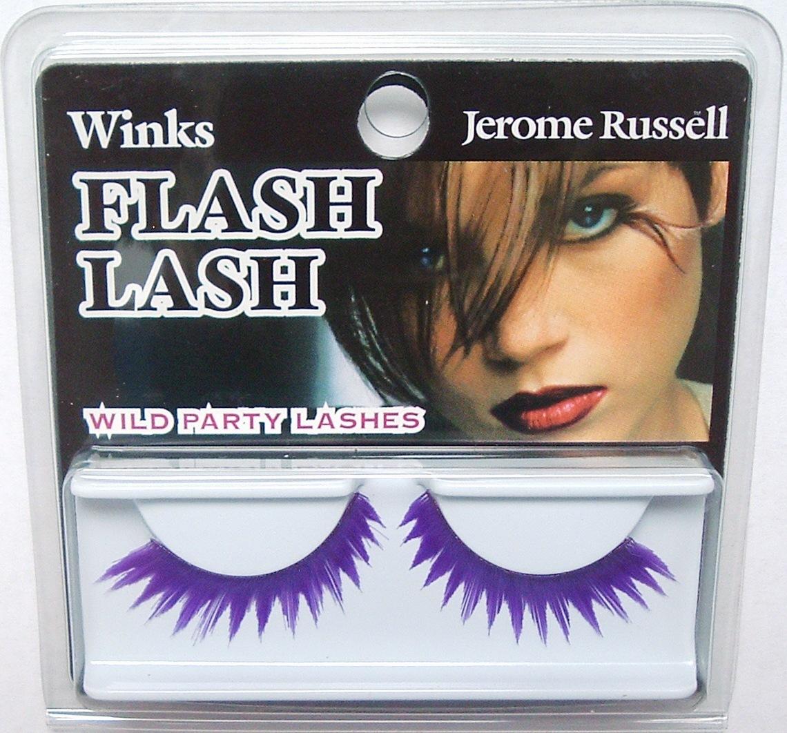 Jerome Russell Winks False Eyelashes 80's VIOLET FLASH Bonanza