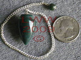 NEW Bloodstone Scrying Pendulum Pagan Wicca - $6.85