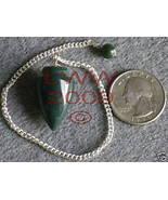 NEW Bloodstone Scrying Pendulum Pagan Wicca - $6.85