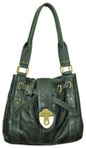 Rough Roses Forest Green Jewel Tote Bag - $149.00