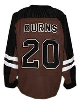 Brian Birdie Burns Mystery Alaska Movie Hockey Jersey New Brown Any Size image 5