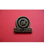 Vintage OK USed Cars Advertising Souvenir Lapel Hat Pin - $7.99