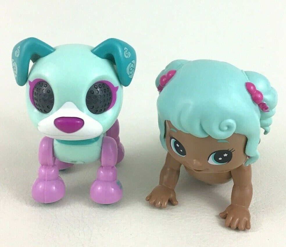 Little Live Crawling Baby with Blue Hair and Dog Interactive Lot 2016 Tested - $14.80