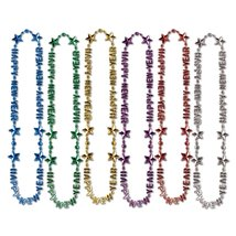 "Club Pack of 12 Happy New Year Assorted Beads-of-Expression Necklace 36"" - €27,12 EUR"