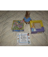 peter rabbit with block puzzle & book set - $8.00