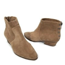 Vince Camuto Womens Size 10M Cinza Tan Suede Ankle Studded Booties Zip Back - £33.77 GBP
